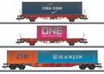 H0 Containerwagen-Set Lgs 580 DB So      MHI ###[UVP 199