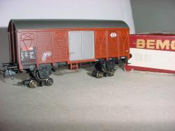 DB Rollböcke H0e beladen mit Märklin Güterwagen SBB