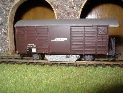 RhB Gbk-v 5558 Schienenreinigungswagen