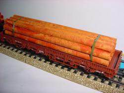 H0 Roehren gealtert 128mm lang, Bündel aus 11 Rohren
