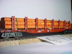 H0 Roehren gealtert 210mm lang, Bündel aus 11 Rohren