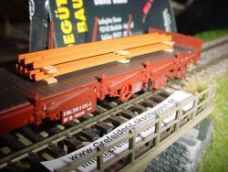 H0 Ladegut 8 Schienenprofile Länge 77mm Breite 17mm