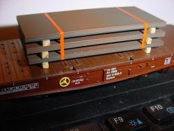 H0 Stapel schwere Bleche L ca. 60mm B 25mm