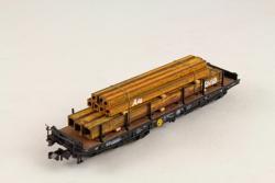 N (H0) Spur Vierkantrohre auf Holzbalken 83 lang 18mm breit