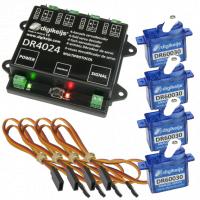 Komplett-Set inkl. 1x Servodecoder, 4x mini Servo-und 4x 50c