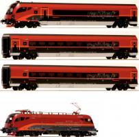 H0 = Railjet Garnitur 38 4tlg 3 wg+Taurus       [UVP 329.90]
