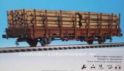 H0 Rungenwagen m. Stammholzladung (lagert In Bayern)UVP 27.9