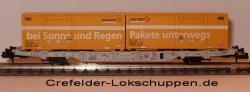 Containerwagen Lgnss 4368 443 3 009 m. 2 Cont.Schweizer Post