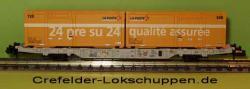 Containerwagen Lgnss 4368 443 3 013m. 2 Cont.Schweizer Post