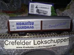 Hanomag Schiebewandwagen DB Ep.III Seitenwände aufschiebbar