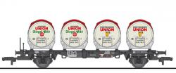 H0 Behältertragwagen BT55 4 Bierbehälter DB Ep IV[UVP 99.90]