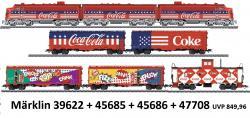 H0 F7 Coca Cola-Zug 8-teilig  mit 2 Motoren+SOUND[UVP 849.96