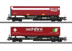 H0 Taschenwagen-Set Auflieger CH   NH2019       [UVP 139.99]