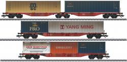 H0 Containerwagen-Set DB AG        NH2018 MHI ##[UVP 249.99]