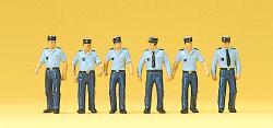 H0 Polizisten in Sommeruniform,                  Preiser H0