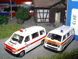 VW Bus 2-er Set T3/T4 Kantons-Polizei Schweiz [UVP 19.95]