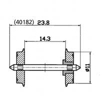 H0 DC Radsatz 11mm (1 Paar) zwei ehe R_85631         006.40]