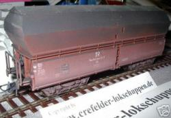 Klappdeckel-Selbstentladewagen Saarbr.KKt DRG gealtert 47306