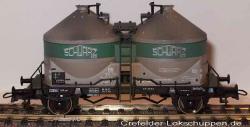 H0 Zement-Silowagen DB Ucs 356 378 Ep 3 Schwarzbau gealtert.