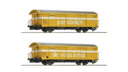 H0 Set 2 Postgüterwagen SBB gelb Ep V-VI  NH2016 ###[079.00]