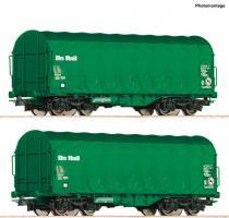 H0 Set 2 Schiebeplanwagen On Rail NH2020        [UVP 058.90]