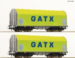 H0 2er Set Schiebeplanwagen GATX       NH2020    [   058.90]