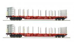 H0 Set 2 Rungenwagen RailCargoAu tria ÖBB NH2017#[UV 104.90]