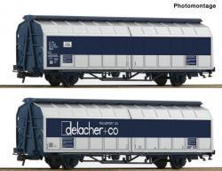 H0 Dop.SchiebewandwagenEinheit ÖBB Delacher###NH2018 056.90]