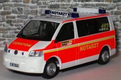 VW T5 Transporter Notarzt Feuerwehr Krefeld NEF 12 m.KR-2143