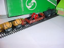 3-er SET Güterwagen WUERTEMBERG K.W.St.E. Mit Ladung