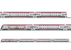 N  Doppelstockwagen-Set CFL Lichtw.+Innenbeleuchtung NH2015#
