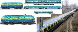 N BR218 416-6 + BR218 418-2 + 5-tlg. Wagen-Set Touristikzug