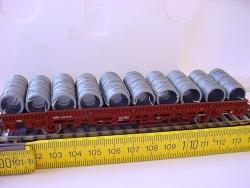 H0 Drahtringe 30mm Durchmesser 15mm für Flachwagen 10 Stück