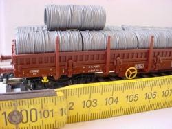 Drahtring blank für Rungenwagen 1 Stück, 31mm lang x 15mm