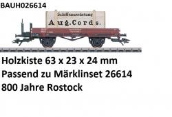 H0 Transportkiste 63x23x24mm August Cordes zu Märklin 26614