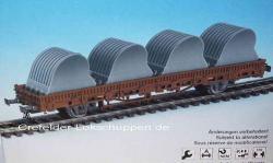 H0 Niederbordwagen Ladegut 4 Schafeln für Großbagger [UVP 26