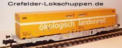 Containerwagen Lgnss 4368 443 3 011 m. 2 Cont.Schweizer Post