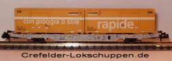 Containerwagen Lgnss 4368 443 3 014m. 2 Cont.Schweizer Post