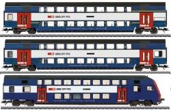 H0 Set 3 Doppelstockwagen S-Bahn Zürich ###NH2020[UVP 234.99