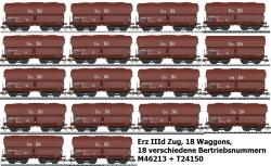 H0 Set 18 Wagen Erz IIId DB  Ep IV 18 Betriebsnr.UVP 683.82]