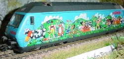 = H0 Märklin HAMO E-LOK Re460 017-7 SBB Alpaufzug  DC