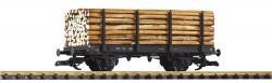 Spur G-Rungenwagen mit Holzladung    ###        [UVP 124.00]