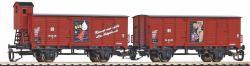 Spur TT-Ged. 2er Set Güterwagen G0 NH2021       [UVP  64.99]