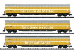 Spur N Set 3 Schiebewandwagen Post SBB Ep VI ###[UVPP129,99