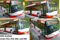 Set 4x Solaris U12-SWK Krefeld Linien: 052 + 054 + 060 + 069