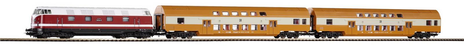 piko 57135 startset br118 doppelstockzug gleisoval neu ovp dhl versand ebay. Black Bedroom Furniture Sets. Home Design Ideas